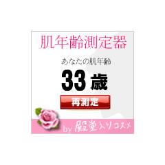 肌年齢測定器 ブログパーツイメージ