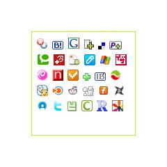 ソーシャルブックマークボタン ブログパーツイメージ
