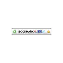ソーシャルブックマークボタンwithclip ブログパーツイメージ