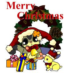 フクモモさん クリスマス ブログパーツイメージ