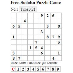 Free Sudoku Puzzle Game ブログパーツイメージ