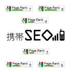 携帯SEOドットモバイルページランク自動認識表示ツール ブログパーツイメージ