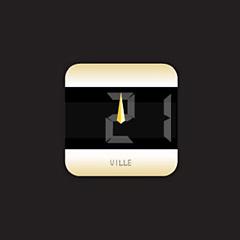 デザイン時計 - stylish - シャンパン・ゴールドイメージ