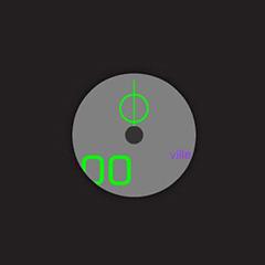 ディスク時計 -グレー-イメージ