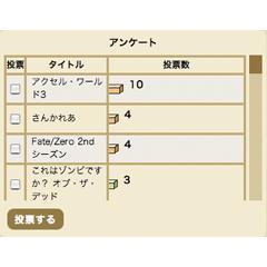 簡易アンケート ブログパーツ (グラフアニメーション付)イメージ