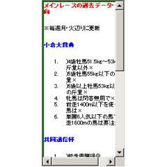 メインレースの過去データ・傾向 ブログパーツイメージ
