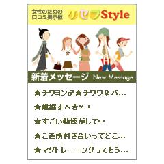 口コミ掲示板「ケセラスタイル♪」新着メッセージ ブログパーツイメージ