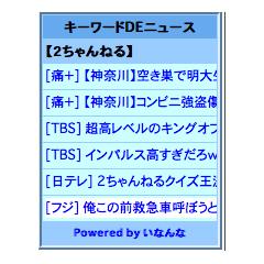 キーワードDEニュース ブログパーツイメージ