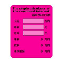 シンプル複利計算機(単利比較バージョン) ブログパーツイメージ