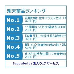 楽天商品ランキング ブログパーツ(青)イメージ