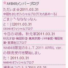 AKB48メンバーブログチェッカー ブログパーツイメージ
