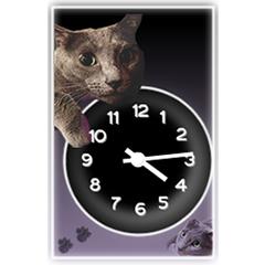 ネコ時計|ブログパーツイメージ