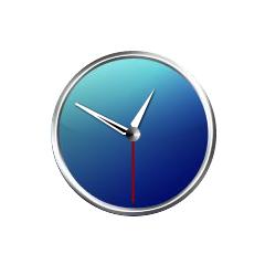 アナログ時計:スタイリッシュブルー ブログパーツイメージ