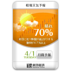 東洋経済 相場天気予報!ブログパーツイメージ
