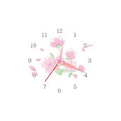 桜時計 ブログパーツイメージ