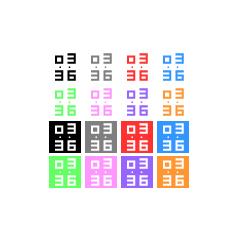 アイコンサイズ デジタル時計 ブログパーツイメージ