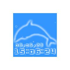 イルカ時計 ブログパーツイメージ