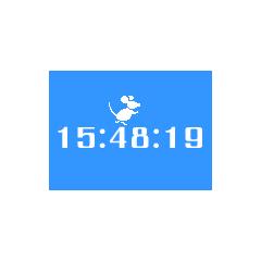 ねずみが走る時計 ブログパーツイメージ