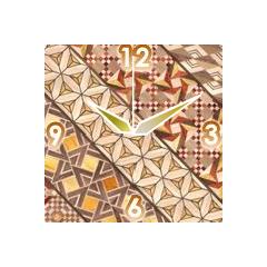 寄木細工の時計(小寄木模様) ブログパーツイメージ