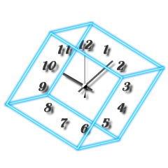 キュービック時計【ダブルブルー】 ブログパーツイメージ