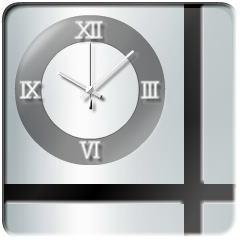 ハロウスタイル時計【ゴーストホワイト】 ブログパーツイメージ