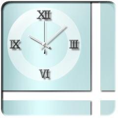 ハロウスタイル時計【ライトシアン】 ブログパーツイメージ
