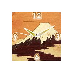 富士山の時計(寄木細工) ブログパーツイメージ