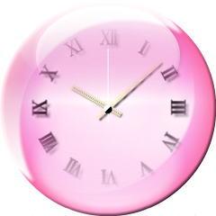 フロート時計【3色ピンク】 ブログパーツイメージ