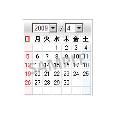シンプルカレンダー ブログパーツイメージ