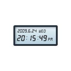 カレンダー機能搭載デジタル時計 ブログパーツイメージ