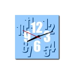 10種類から選べる☆ポップカラーアナログ時計 ブログパーツイメージ