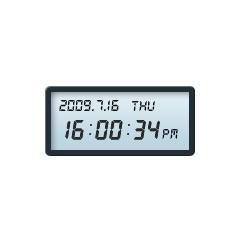 10色☆パステルカラーデジタル時計 ブログパーツイメージ
