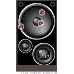 スピーカー時計 ブログパーツイメージ
