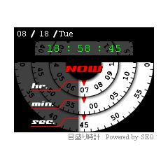 時計11(目盛) ブログパーツイメージ