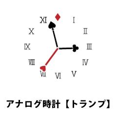 アナログ時計【トランプ】 ブログパーツイメージ