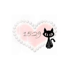 【20種類】ラブリーorポップ!?選べるデジタル時計 ブログパーツイメージ