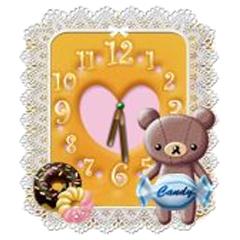 【3種類】森ガール必見☆おしゃれな癒し系アナログ時計 ブログパーツイメージ