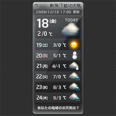 週間天気WIDGET ブログパーツイメージ