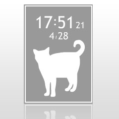 ネコ時計 ブログパーツイメージ