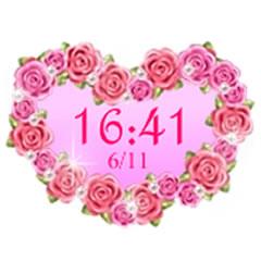 キラキラ光る☆キュートなデジタル時計 ブログパーツイメージ