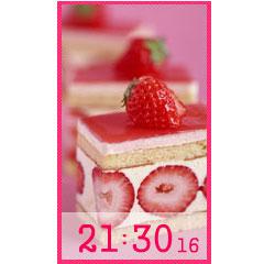 いちごケーキ時計 ブログパーツイメージ
