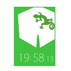 ダーツフライト(トカゲ)時計 ブログパーツイメージ