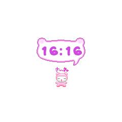 モモコ・ウロウロ時計 ブログパーツイメージ
