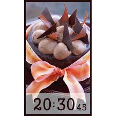チョコレートケーキ時計 ブログパーツイメージ
