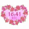 キラキラ光る☆キュートなデジタル時計 ブログパーツ サムネイル