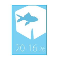 ダーツフライト(金魚)時計 ブログパーツ サムネイル